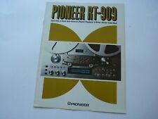 ORIGINAL Pioneer RT-909 Reel Deck Sales Brochure Dated April 1979 RARE