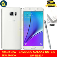 Brand New Samsung Galaxy Note 5 SM-N920A White Pearl Unlocked Android Smartphone