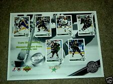 Minnesota Northstars Upper Deck 92-93 Limited Edition Sheet