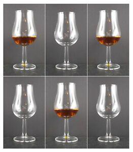 6 Tasting Nosing Gläser Kelch Likör Whisky Whiskey Glas Rum ohne Werbeaufschrift