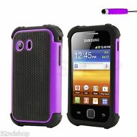 NEW SHOCK PROOF CASE COVER FITS SAMSUNG GALAXY Y S5360 + FREE SCREEN PROTECTOR