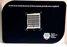 """Tovaglietta da collezione """"Centrale del latte di Roma"""" in plastica blu'"""