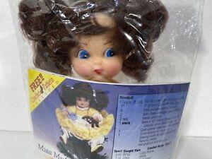 Vtg NOS Fibre Craft Air Freshener Doll Light Brunette Blue Eyes Upper Body 3101