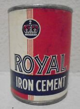 VINTAGE ROYAL IRON CEMENT CAN
