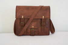 Real Leather Messenger Bag iPad/Tab Handbag Purse Crossbody Shoulder Bag 11x9""