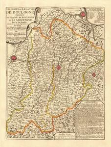 'Le Comté et Legaton de Boulogne'. Bologna Modena Imola Ferrara. NOLIN c1730 map