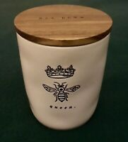"New Rae Dunn by Magenta ""QUEEN BEE"" Cellar Canister with Wooden Lid (VHTF)"