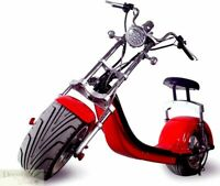 RED Electric Scooter 2000W Fat Tire Chopper Harley Style 20AH 60V Battery USB