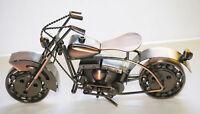 """Old Fashion Sculpture Motorcycle Bike Harley 10"""" Hybrid Scrap Welded Metal"""