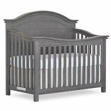 Evolur Belmar 5 in 1 Curve Top Convertible Crib in Rustic Gray