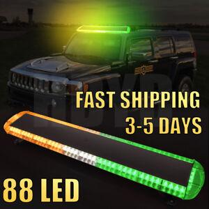 """47""""88LED Strobe Light Bar Emergency Warning Tow Truck Response Amber White Green"""