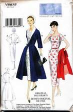 VOGUE SEWING PATTERN 8875 MISSES SZ 8-16 RETRO 1955 FITTED DRESS & COAT ENSEMBLE