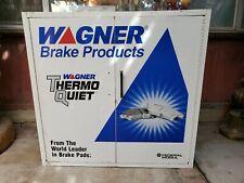 Vintage Wagner Brake Metal Cabinet - Garage Advertising - Metal Storage Man Cave