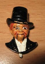 Vintage Charlie Mccarthy Figuratif Fourrure Pince Edgar Bergen Mécanique