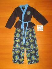 Boys Teenage Mutant Ninja Turtles Flannelette Pjs Blue LEONARDO & Tattoos-Size 7