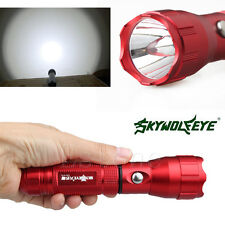 Wolf 4000 Lumens Flashlight Torch 3 Modes XPE LED 18650 Lamp Light Red New