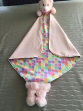 Teddy Security Blanket / Blankie Unique Handmade Pink