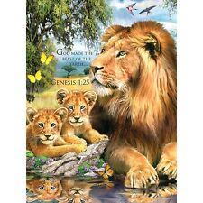 Lions by the Pool 1000 Piece Puzzle