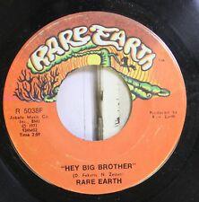 Rock 45 Rare Earth - Hey Big Brother / Rare Earth On Jobete Music Co.