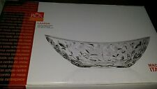 NEW RCR Home & Table Laurus Crystal Oval Bowl Centerpiece Made in Italy