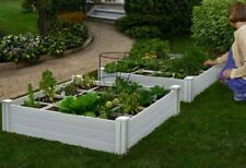 Patio Vegetables Planter Flowers Pot Raised Garden Bed Box for Vegs Herbs Plants