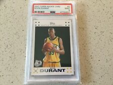 2007 Topps #2 Kevin Durant Seattle Supersonics RC Rookie PSA 9 MINT