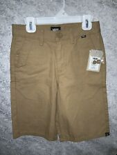 VANS Boys Brown Cotton Bermuda/ Skater Shorts Size 10 NWT