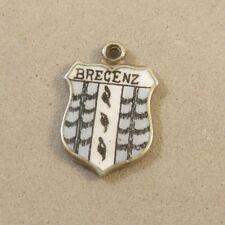 VINTAGE Silver BREGENZ Travel Shield Bracelet CHARM Austria Crest Arms VT76I