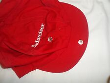 Red One Size Fits All Budweiser Hat Cap Snaps Above Brim EC