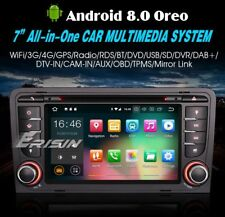 "AUTORADIO Android 8.0 7"" Audi A3 Navigatore USB/SD Bluetooth Comandi Volante DAB"