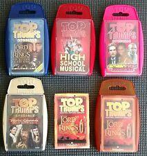 Top Trump Cards lot vintage collection 6 pcs