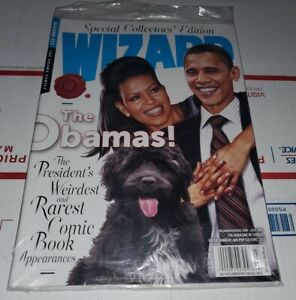 Wizard Magazine Issue 213 NEW NM RARE OOP President Obama Special  Edition MCU!!