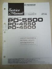 Pioneer Service Manual~PD-5500/4550/4500/S CD Player~Original~Repair