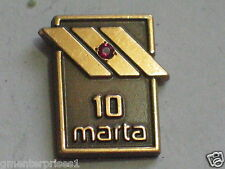 Vintage Marta Bus 10 Year Service Award Pin Gold with Ruby, (#06)(A) , (*)