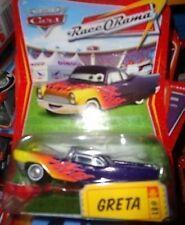 CARS RACE-O-RAMA SERIES VEHICLE GRETA. MINT ON CARD. FREE U.S. SHIPPING
