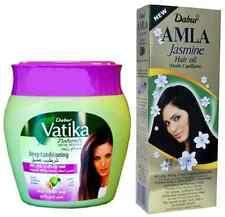 Dabur Jasmine Amla Hair Oil 200ml & Vatika Virgin Olive Hot Oil Hair Mask 500ml