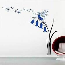 FIORI FATA Blue Star Playroom Wall art Adesivi Murales Casa Decorazione Stanza