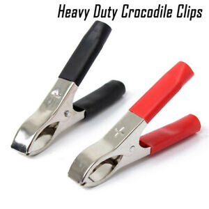 2/10/20pcs 70mm 30A Heavy Duty Crocodile Clip Insulated Electrical Test Lead New