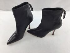 Stuart Weitzman Juniper 95 Black Leather Ankle Booties Size 6M H2515