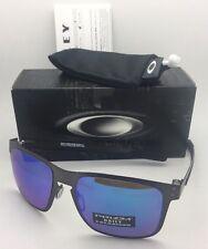 Polarized OAKLEY Sunglasses HOLBROOK METAL OO4123-07 Gunmetal w/ PRIZM Sapphire