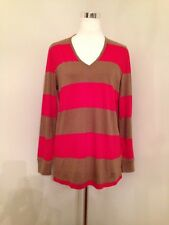 Burberry Brit Cotton Wool Striped Long Sleeve Multi Top Small New