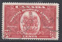 """Canada Scott #E8 20 cent dark carmine """"Special Delivery""""  F"""