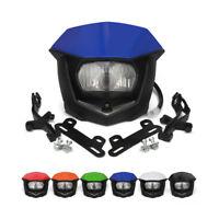 Headlights Headlamp for YAMAHA WR250F WR450F TTR250 DT230 TTR230 WR250R Blue