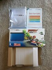 Nintendo 3DS XL Blue Mario Kart 7 Edition Box (Box, Manuals Only) NO CONSOLE