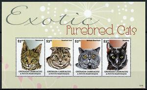 Grenadines Grenada Stamps 2013 MNH Exotic Purebred Cats Savannah Cat 4v M/S II