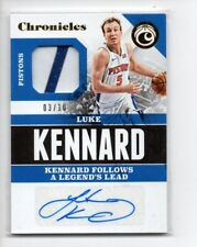 LUKE KENNARD 2017-18 CHRONICLES SIGNATURES SWATCHES ROOKIE RC PATCH AUTO /10