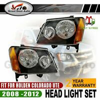 L&R Head Light Lamp Set For Holden Colorado RC 2/4DR 2008 2009 2010 2011 2012