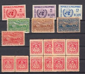 PHILIPPINES MNH ** 1947 1948   lot of 17 stamps