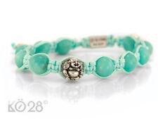 JJJ - LA Shamballa Armband 925/- Silber Amazonit Buddha Motiv in türkis (20286)