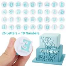 Alphabet Number Letter Fondant Cake Molds Decorating Set Baking Mold Tool